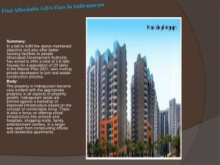 Find Affordable GDA Flats In Indirapuram