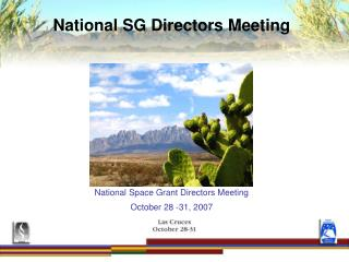 National SG Directors Meeting