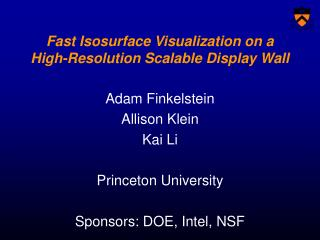 Fast Isosurface Visualization on a High-Resolution Scalable Display Wall