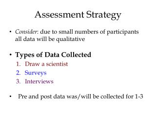 Assessment Strategy