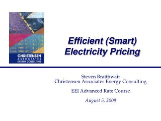 Efficient (Smart) Electricity Pricing