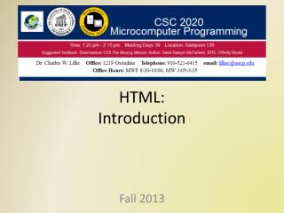 HTML: Introduction