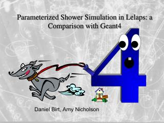 Parameterized Shower Simulation in Lelaps: a Comparison with Geant4