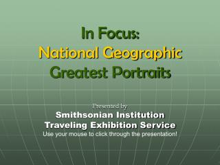 National Geographic - Greatest Portraits