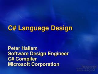 C# Language Design