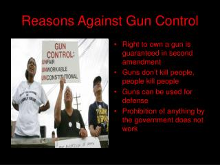 Reasons Against Gun Control