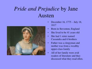 jane austen presentation pride and prejudice Sibling love in jane austen's pride and prejudice glenda a hudson department of english by focusing on austen's presentation of siblings.