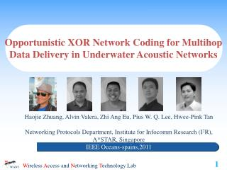 Opportunistic  XOR Network Coding for  Multihop Data Delivery in Underwater Acoustic Networks