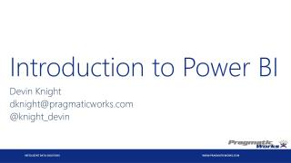 Introduction to Power BI