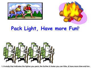 Pack Light, Have more Fun! 1