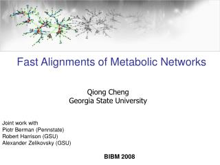 Qiong Cheng Georgia State University Joint work with Piotr Berman (Pennstate)