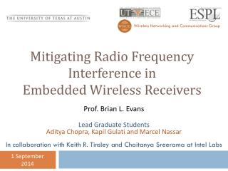 Mitigating Radio Frequency Interference in Embedded Wireless Receivers