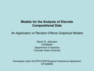 Models for the Analysis of Discrete  Compositional Data An Application of Random Effects Graphical Models