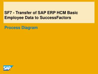 SF7 - Transfer of SAP ERP HCM Basic Employee Data to SuccessFactors