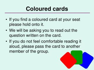 Coloured cards