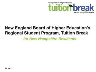 New England Board of Higher Education's Regional Student Program, Tuition Break