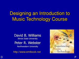 Designing an Introduction to Music Technology Course