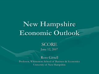 New Hampshire Economic Outlook
