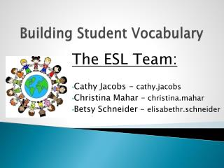 Building Student Vocabulary