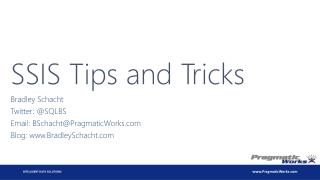 SSIS Tips and Tricks