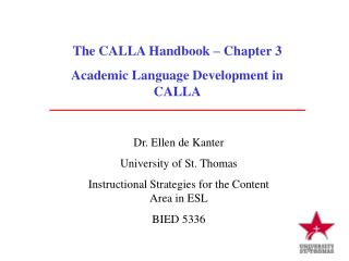 The CALLA Handbook – Chapter 3 Academic Language Development in CALLA