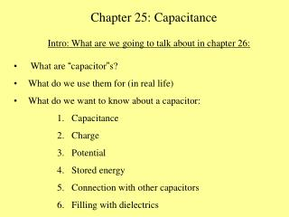 Chapter 25: Capacitance