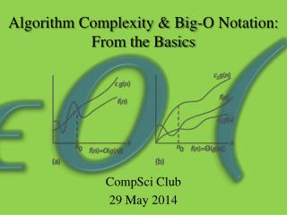 Algorithm Complexity & Big-O Notation:  From the Basics