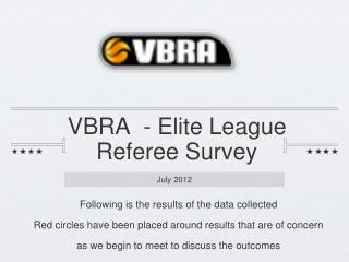 VBRA  - Elite League  Referee Survey