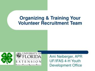 Organizing & Training Your Volunteer Recruitment Team