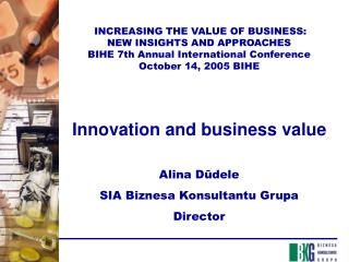 INCREASING THE VALUE OF BUSINESS: NEW INSIGHTS AND APPROACHES