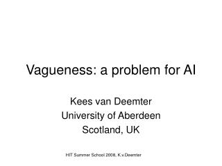 Vagueness: a problem for AI