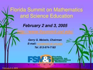Florida Summit on Mathematics and Science Education