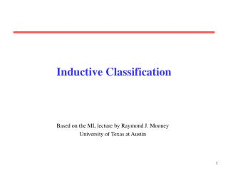 Inductive Classification