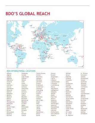 BDO'S GLOBAL REACH