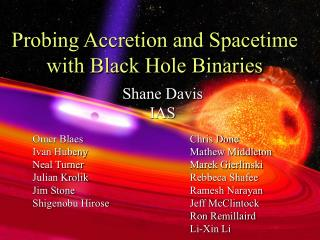 Probing Accretion and Spacetime with Black Hole Binaries