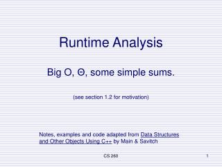 Runtime Analysis