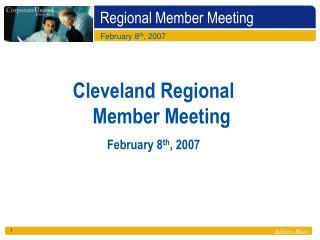 Regional Member Meeting