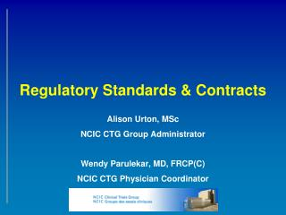 Regulatory Standards & Contracts