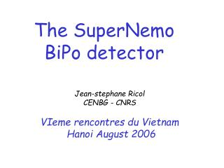 The SuperNemo BiPo detector