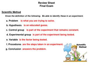 Review Sheet Final Exam