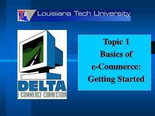 Topic 1 Basics of e-Commerce: Getting Started