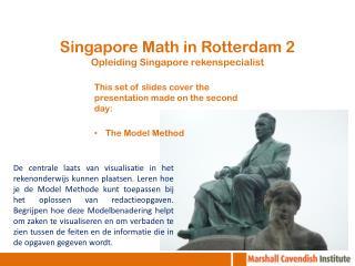Singapore Math in Rotterdam 2 Opleiding Singapore rekenspecialist
