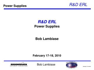 R&D ERL Power Supplies