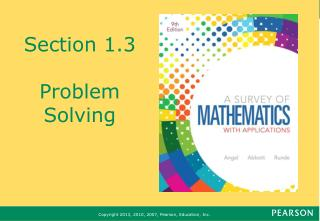 Section 1.3 Problem Solving