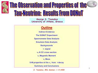 The Observation and Properties of  the  Tau-Neutrino:  Results From DONuT