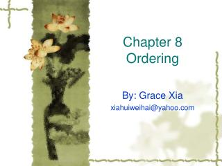 Chapter 8  Ordering