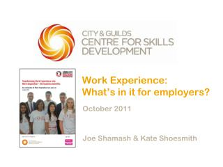 Work Experience:  What's in it for employers?