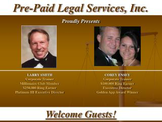 LARRY SMITH Corporate Trainer Millionaire Club Member 250,000 Ring Earner Platinum III Executive Director