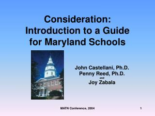 Consideration: Introduction to a Guide for Maryland Schools