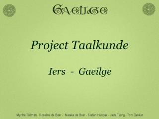 Project Taalkunde